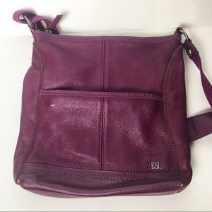 The Sak Plum Purple Leather Crossbody Purse
